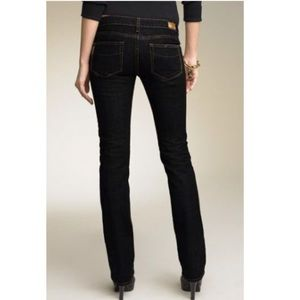 PAIGE Blue Heights Straight Leg Black Jeans